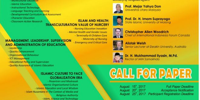 INTERNATIONAL CONFERENCE OF EDUCATION AND ISLAMIC CULTURE