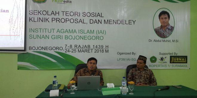 Tingkatkan Kualitas Penelitian, IAI Sunan Giri Bojonegoro Gelar Sekolah Teori Sosial, Klinik Proposal, dan Indexing